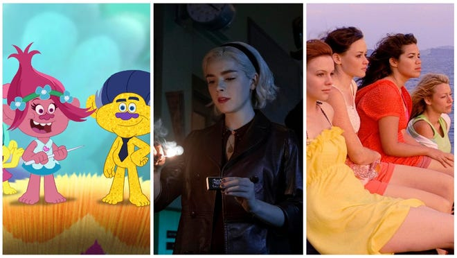 """Netflix features season 6 of """"Trolls: The Beat Goes On,"""" part 2 of """"The Chilling Adventures of Sabrina"""" and """"The Sisterhood of the Traveling Pants"""" one and two."""