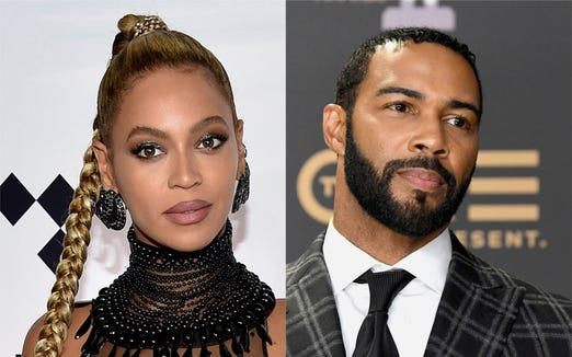 Beyonce and Omari Hardwick