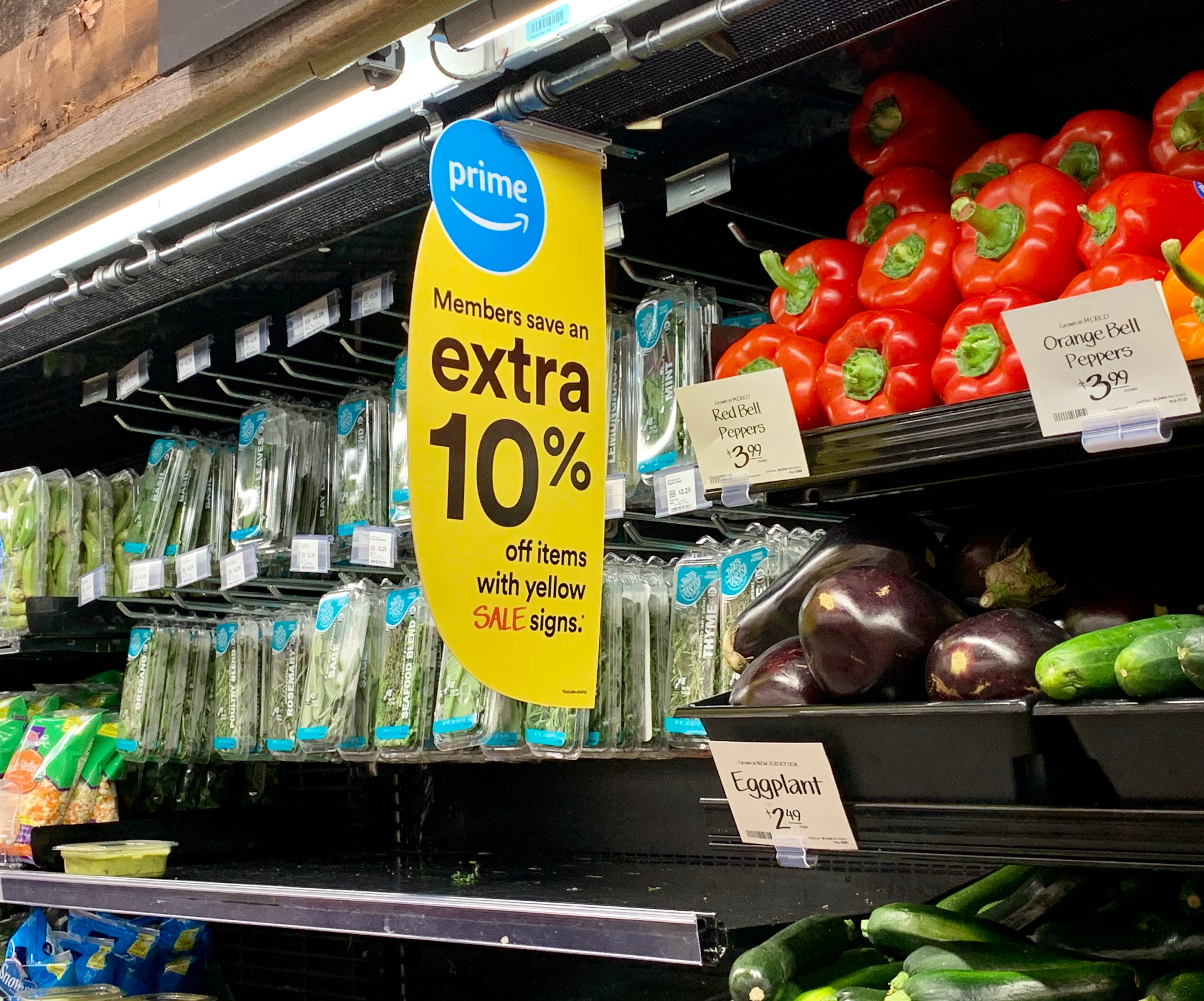 Amazon lowers food prices at Whole Foods