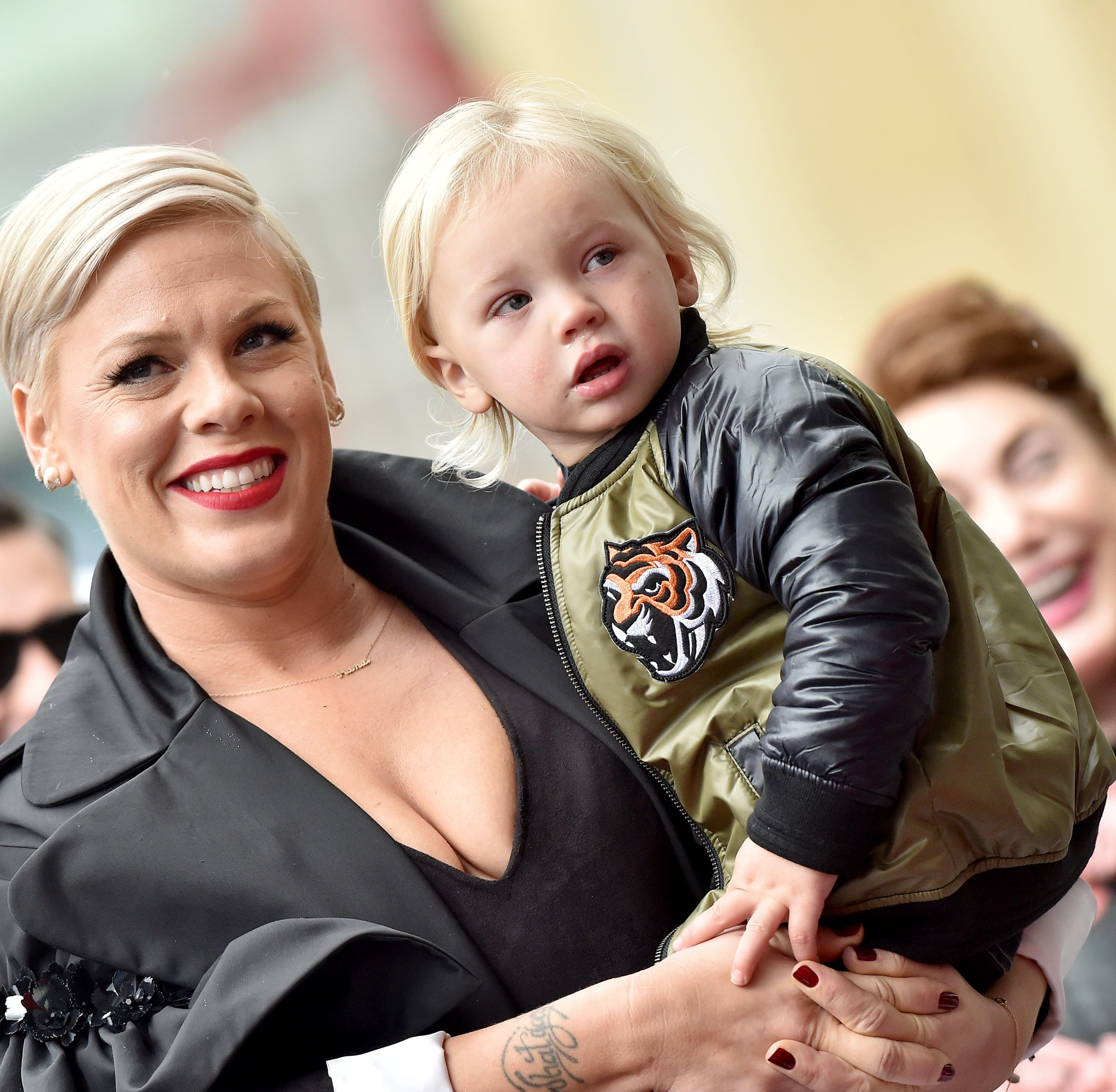 HOLLYWOOD, CALIFORNIA - FEBRUARY 05: Pink and son Jameson Moon Hart attend the ceremony honoring Pink with Star on the Hollywood Walk of Fame on February 05, 2019 in Hollywood, California. (Photo by Axelle/Bauer-Griffin/FilmMagic) ORG XMIT: 775287928 ORIG FILE ID: 1127639559