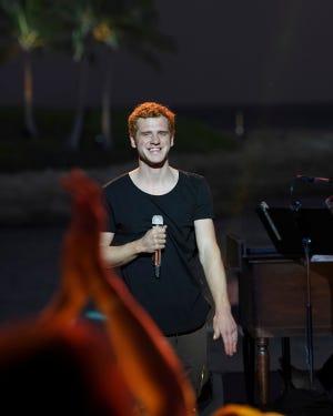 """American Idol"" contestant Jeremiah Lloyd Harmon performs at Disney's Aulani resort in Ko Olina, Hawaii."