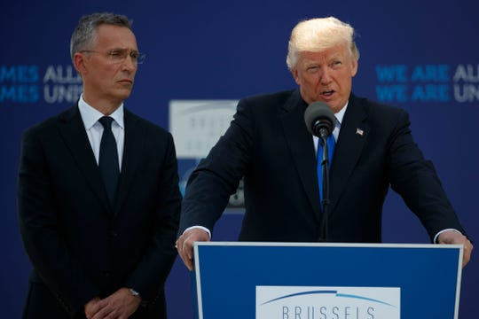 NATO Secretary General Jens Stoltenberg and President Donald Trump have a genial relationship.