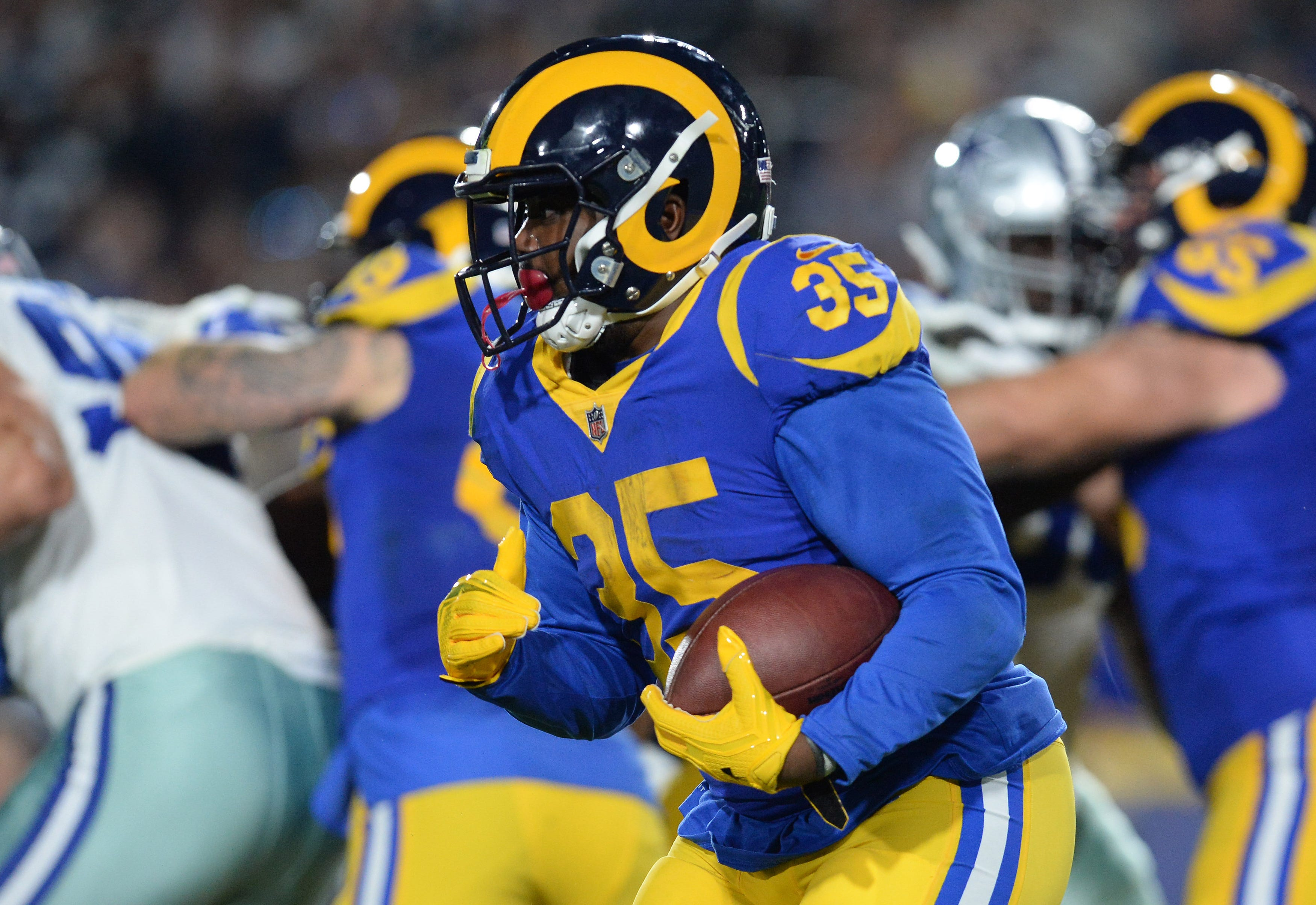 C.J. Anderson rushed for 189 yards and two touchdowns in the Rams' three playoff games last season. (Photo: Gary A. Vasquez, USA TODAY Sports)
