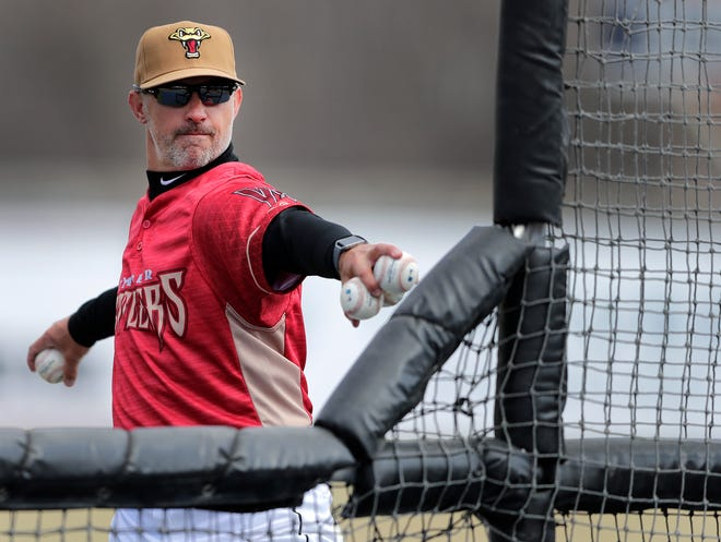 With the minor league season canceled, Wisconsin Timber Rattlers manager Matt Erickson has gone to Milwaukee to help the Brewers get ready for the start of the season.