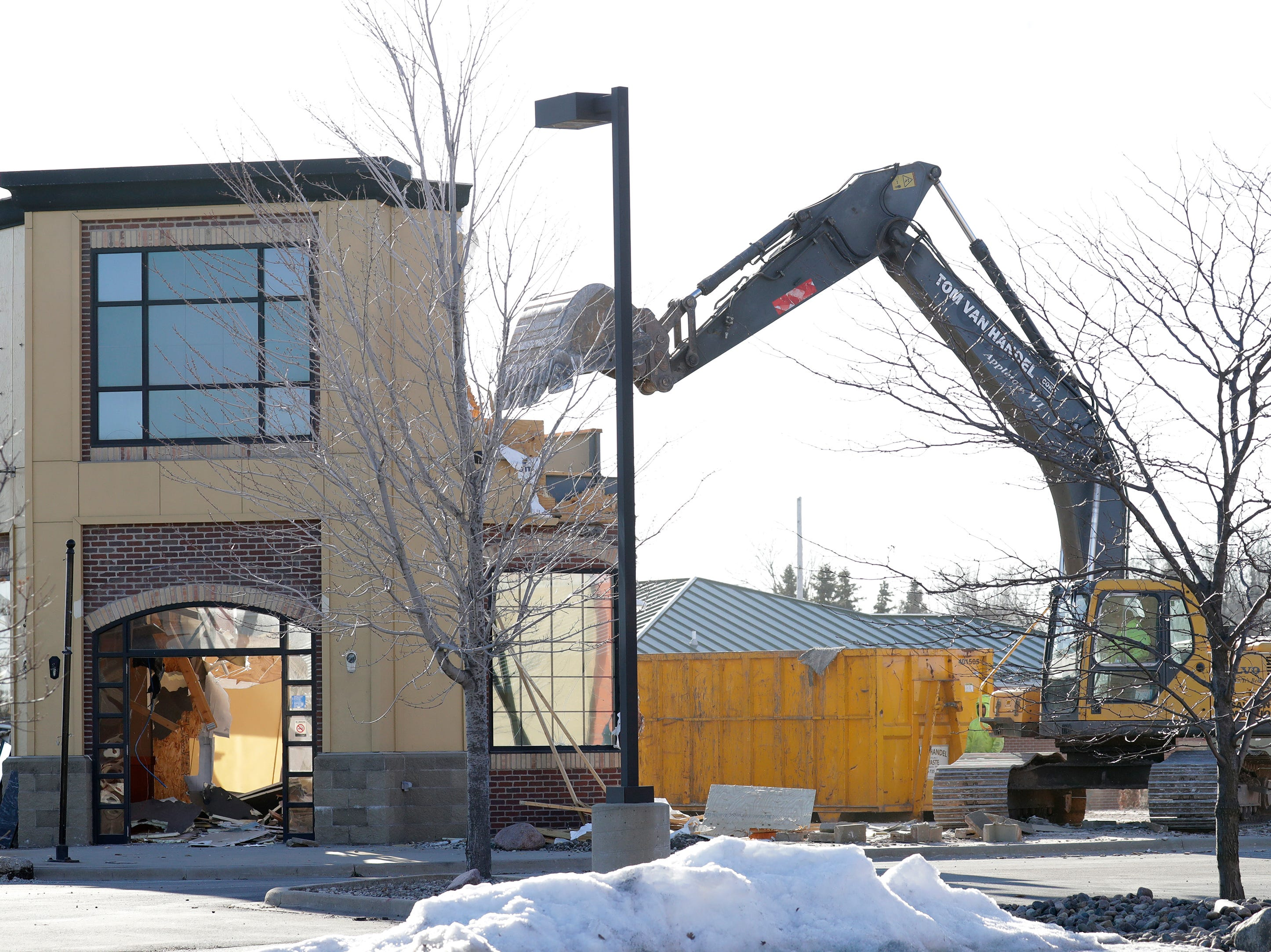 Tom Van Handel Corporation excavates the former Parma restaurant Monday, March 25, 2019, in Grand Chute, Wis. The location, 3775 W. College Ave., is the future site of a Chick-fil-A restaurant.Dan Powers/USA TODAY NETWORK-Wisconsin