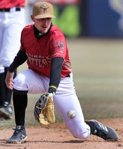 Wisconsin Timber Rattlers shortstop Brice Turang fields a grounder during a workout at Neuroscience Group Field at Fox Cities Stadium on Tuesday.