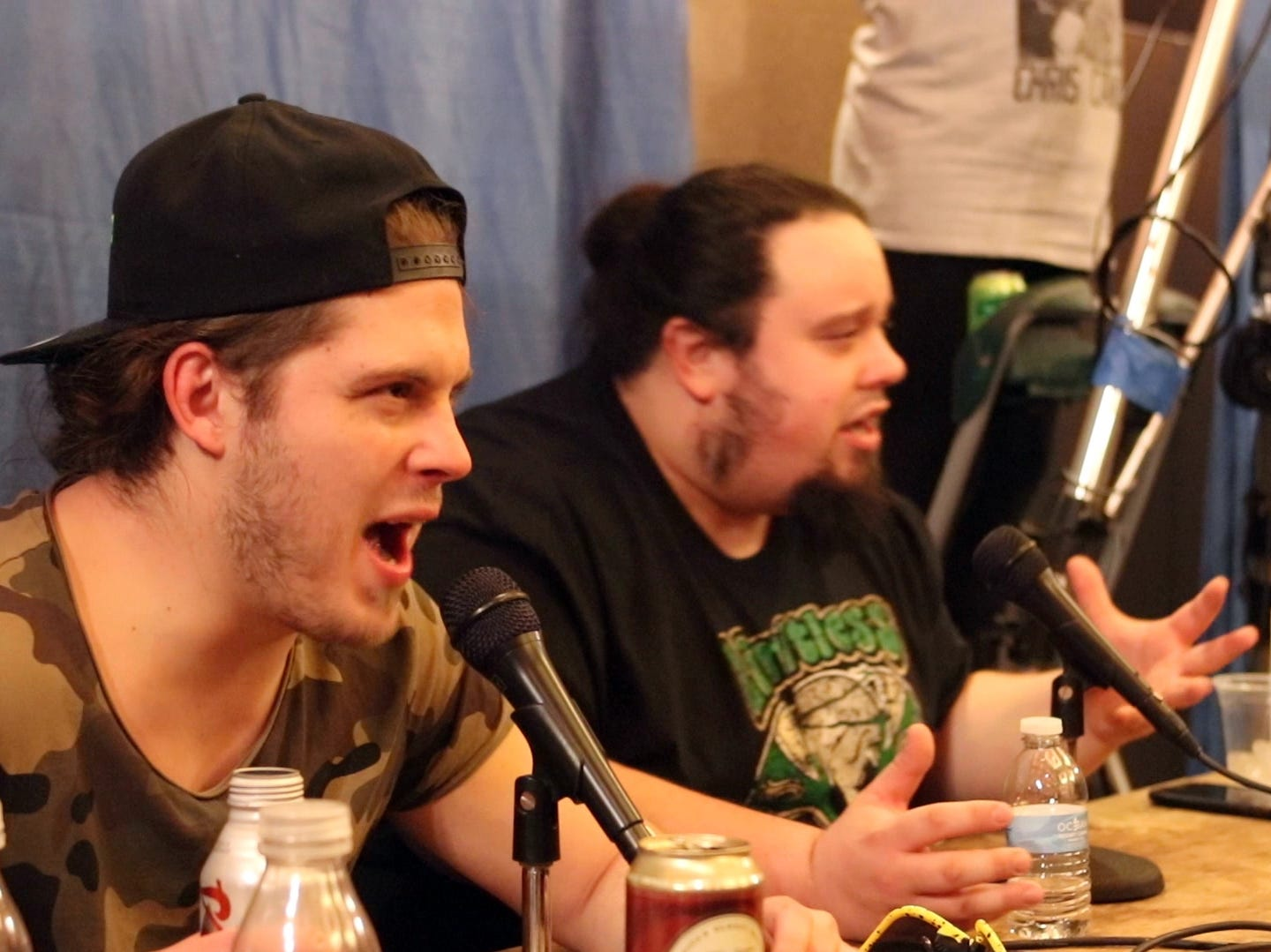Joey Janela watches a match and does commentary during a Game Changer Wrestling Show at the Showboat Hotel in Atlantic City on Feb. 16. Janela is preparing for his comeback at the annual GCW Joey Janela's Spring Break show, held in Jersey City on April 5 and April 6, after a knee injury last year.