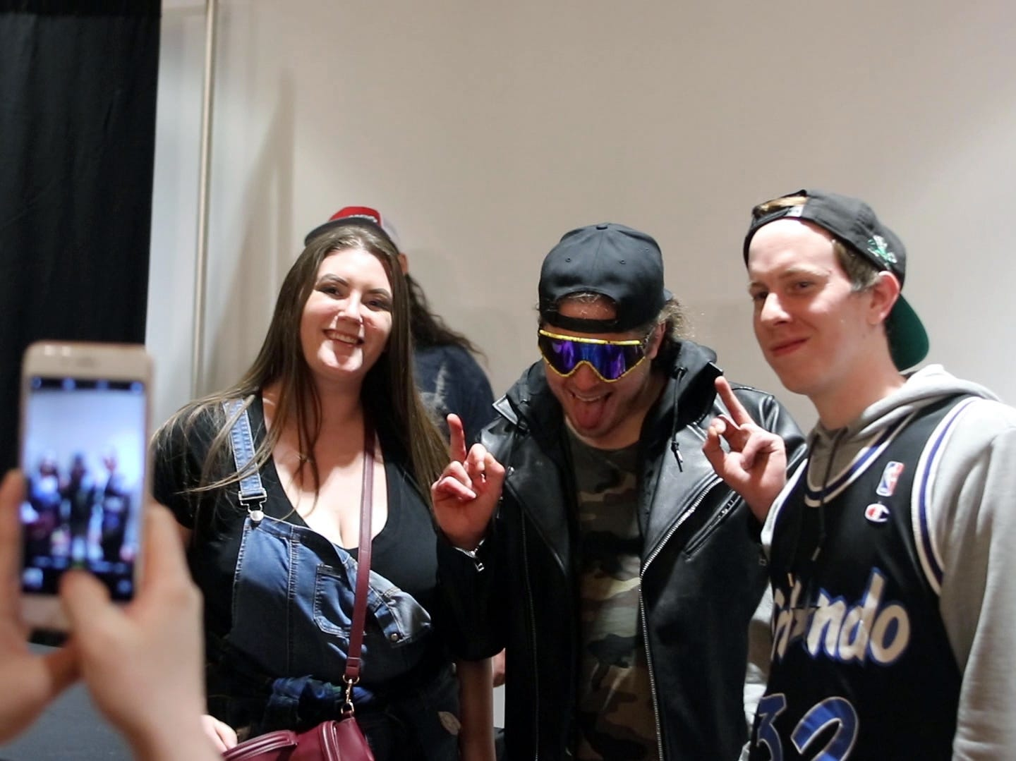 Joey Janela poses with fans during a Game Changer Wrestling Show at the Showboat Hotel in Atlantic City on Feb. 16. Janela is preparing for his comeback at the annual GCW Joey Janela's Spring Break show, held in Jersey City on April 5 and April 6, after a knee injury last year.
