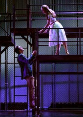 "Tony (Eric Schell) and Maria (Cristina Maria Castro) become an item in this rehearsal scene from ""West Side Story"" at the Paramount Theatre."
