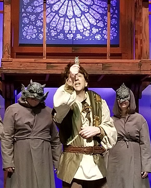 "Eric Spencer plays Quasimodo in BCT's production of ""The Hunchback of Notre Dame."""