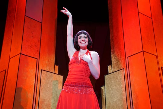 "Millie Dillmount is played by Kristen Olson in ""Thoroughly Modern Millie."""
