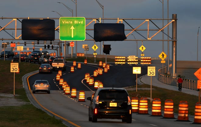 Golf carts are not permitted on the Viera Boulevard overpass over Interstate 95, although there is a proposal to change that.