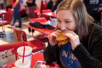 The Kansas-based restaurant offers burgers, hot dogs, custard and sandwiches.