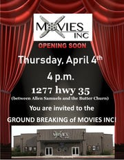 Movies Inc. is having a groundbreaking ceremony on Thursday for a theater in Aransas Pass.