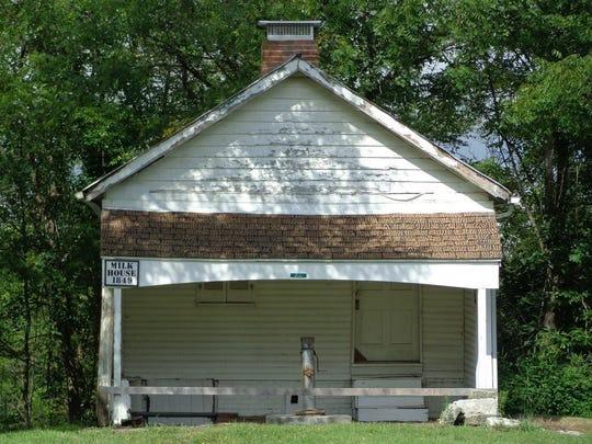 The Shaker Settlement MIlk House was built in 1849.