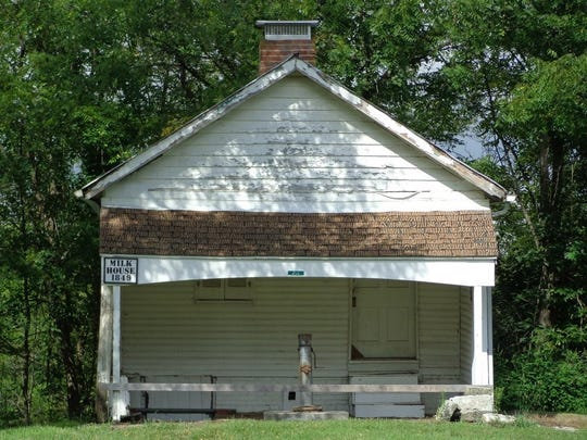 The Shaker Settlement MIlk House was built in 1849.