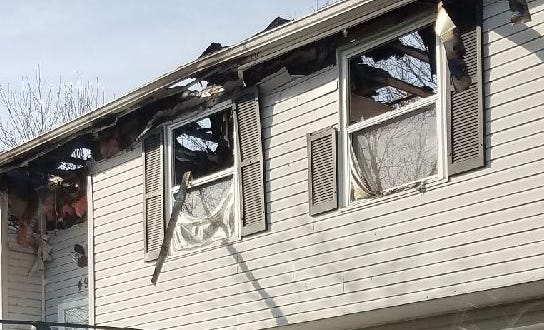 A Forest Park home was heavily damaged in a blaze Monday just hours after firefighters had responded to a smaller fire.