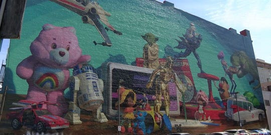 Cincinnati Toy Heritage mural downtown was defaced the weekend of March 30.