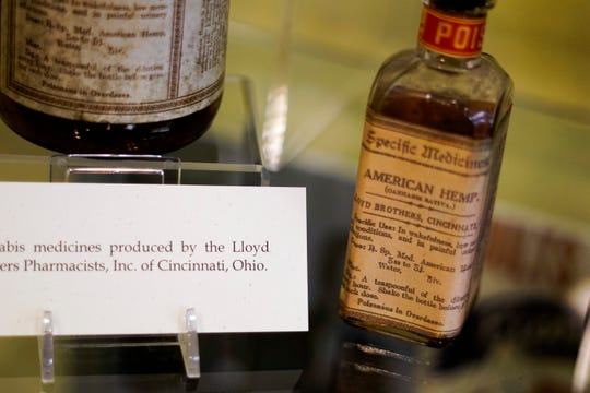 """A cannabis remedy distributed by the Lloyd Brothers Pharmacists Inc., who operated a Cincinnati based pharmaceutical company and founded the Lloyd Library and Museum in 1919. The Lloyd brothers' products are featured in """"Through the Rx Bottle,"""" a history of medicinal cannabis currently at the Lloyd Library."""