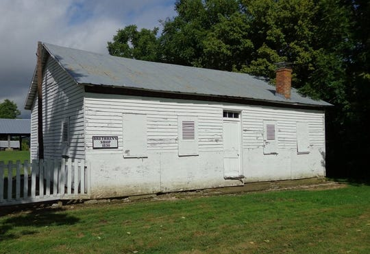 The Shaker Settlement Brethern House was built in 1830.