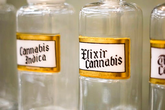 """Cannabis was once commonly stocked and available in pharmacies across the country, according to """"Through the Rx Bottle,"""" a history of medicinal cannabis at the Lloyd Library and Museum."""