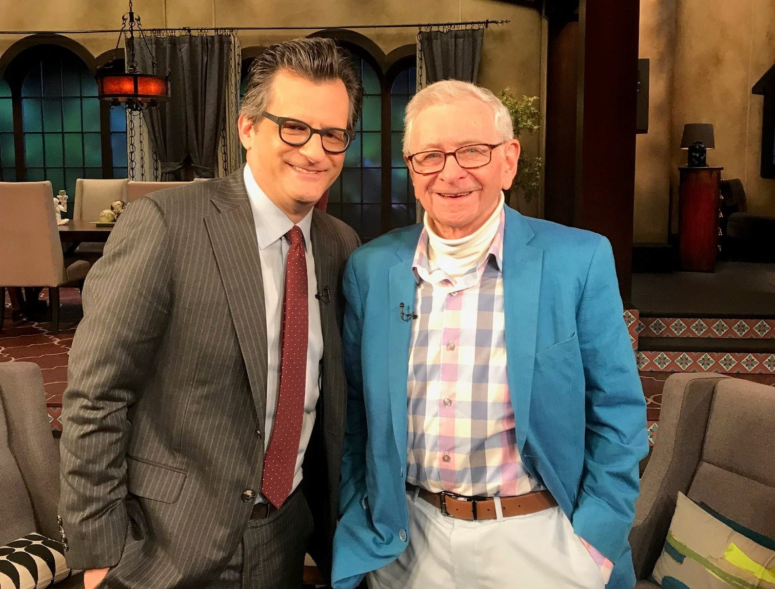 """Moe Resner, 88, of Edison is pictured with Turner Classic Movies host Ben Mankiewicz. On April 19, Resner will introduce 1942's """"The Major and the Minor,"""" the first favorite movie he saw starring his favorite actress, Ginger Rogers."""
