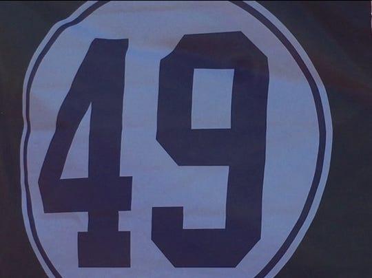 Beloved former Old Bridge High School ace Zach Attianese's No. 49 was retired on Monday