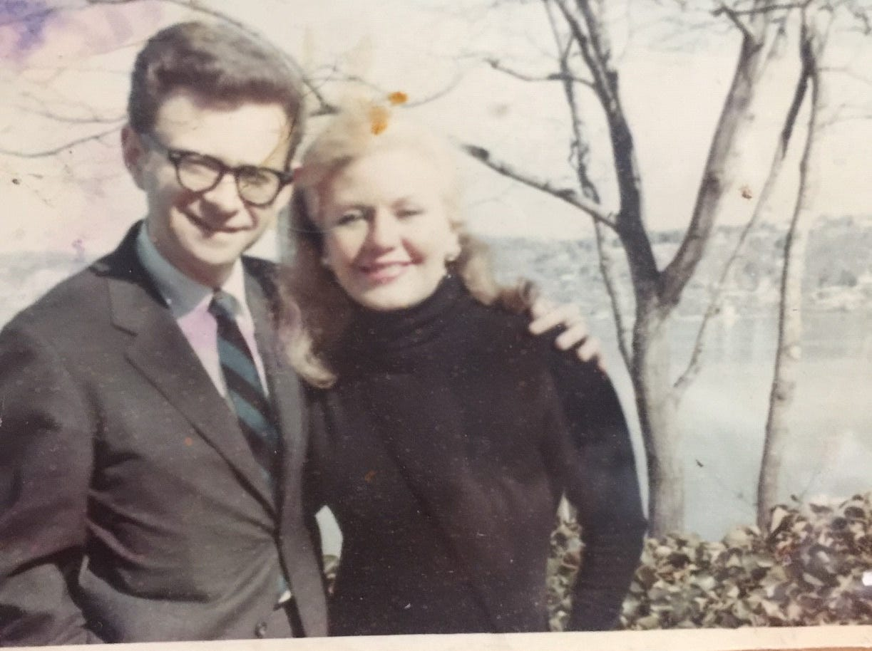 """Moe Resner, 88, of Edison is pictured in the 1960s with his favorite movie star Ginger Rogers. On April 19 on Turner Classic Movies, Resner will introduce """"The Major and the Minor,"""" the first Rogers film he saw in 1942."""