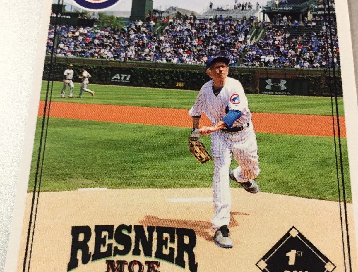 In addition to being a huge Ginger Rogers fan, Moe Resner, 88, of Edison also is a big fan of the Chicago Cubs. Two years ago, he got to throw out the first pitch in a full team uniform.