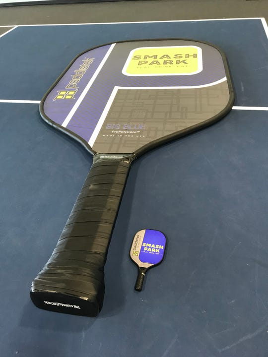 Smash Park's Big Blue is officially the world's largest pickleball paddle.