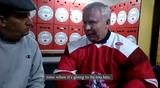 Former Detroit Red Wings defenseman Slava Fetisov talks global warming on Sunday, March 31, 2019, in Israel.