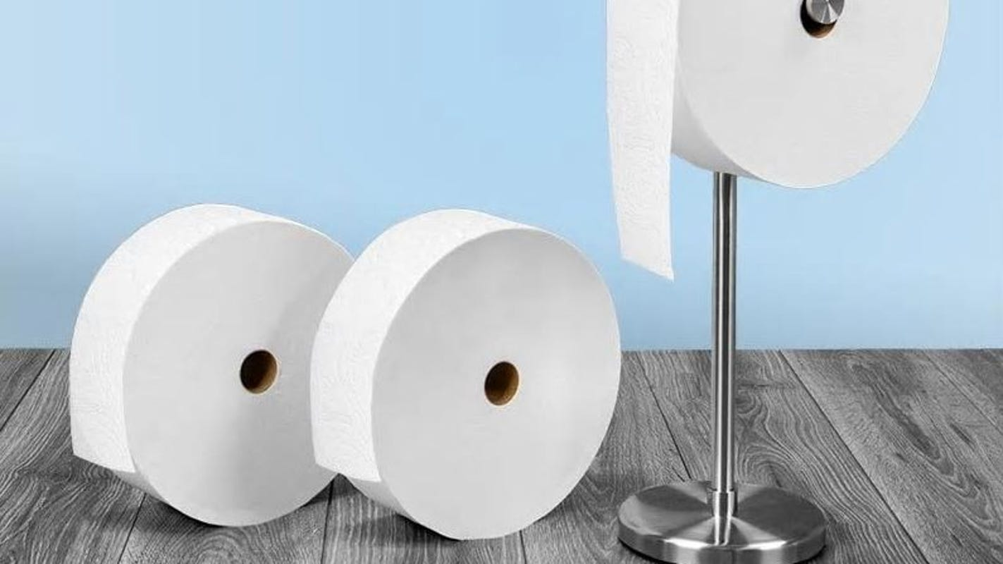 Charmin S Forever Toilet Paper Rolls Are Bigger Than Your Head