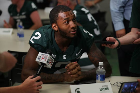 CB Justin Layne, Michigan State: Layne is far and away Michigan State's top draft prospect, a big cornerback with good ball skills who should hear his name called somewhere on Day 2. The Lions, of course, need a big corner to pair with Darius Slay.