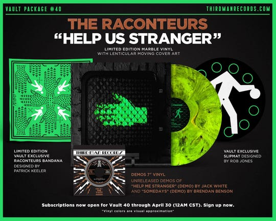 """The Third Man Vault package for """"Help Us Stranger."""""""