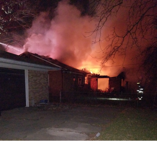 A homes on Hanks Lane caught fire Tuesday morning. The 93-year-old resident died at the hospital