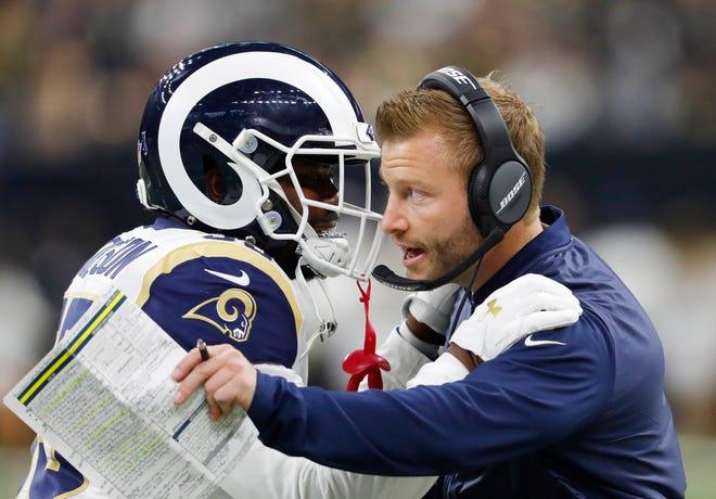 Rams coach Sean McVay.