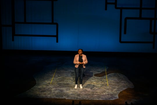"U-M student Kendall Youn performs in ""Flint"" by U-M drama professor José Casas, which deals with the city's water crisis. It debuts April 4 at the university's Arthur Miller Theatre."