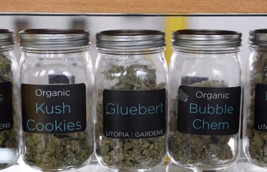 Marijuana like these varieties sold at Utopia Gardens in Detroit include a 6% state sales tax for medical marijuana users. But for recreational use, there will be a 6 percent sales tax plus a 10 percent excise tax.