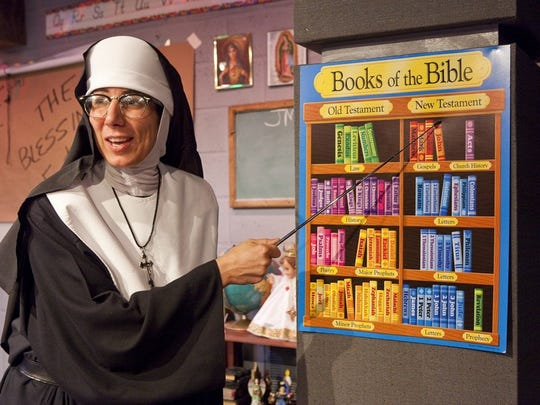 "In ""Late Nite Catechism,"" Denise Fennell plays the role of Sister."