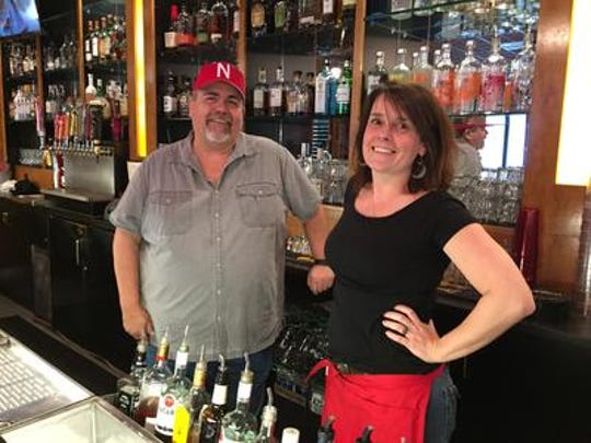 """Jim """"JB"""" Quick and Rachel Miller were all smiles when GameDay Sports Grill opened in February 2018. Miller, who worked at the restaurant when it was Pappy's Corner Pub, stayed on to run the day-to-day operation at GameDay."""