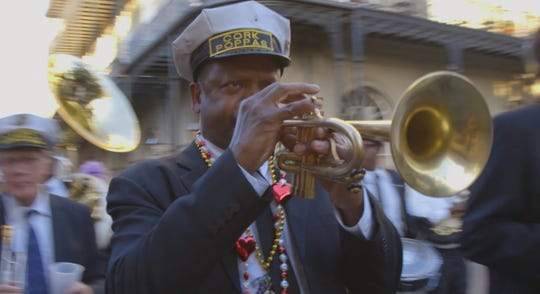 "New Orleans trumpeter Leroy Jones in a scene from the documentary ""A Man and His Trumpet: The Leroy Jones Story"""