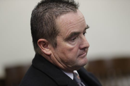 Green Bay Mayor Jim Schmitt during his sentencing for violating state campaign finance laws.