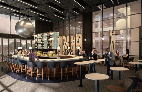 A rendering of one of the dining concepts at the AC Hotel by Marriott at Camperdown.