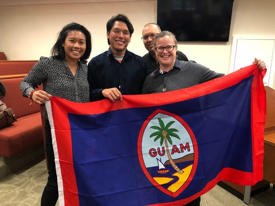 Four Guam scholars participated in the Harvard Conference for International History on March 28 and 29. From left: Kristin Oberiano, Andrew Gumataotao, Keith Camacho and Rebekah Garrison.