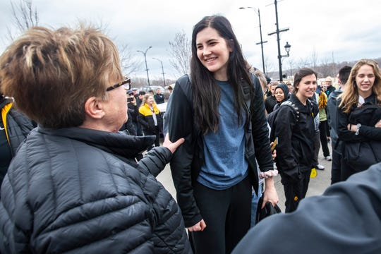 "Megan Gustafson said she has been overwhelmed by the level of support she's received from Iowans. ""It's been awesome to see how much they really love me,"" the former Hawkeye said."