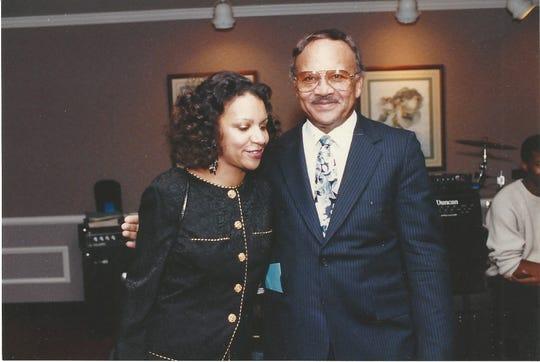 A'Lelia Bundles with her father, S. Henry  Bundles Jr.