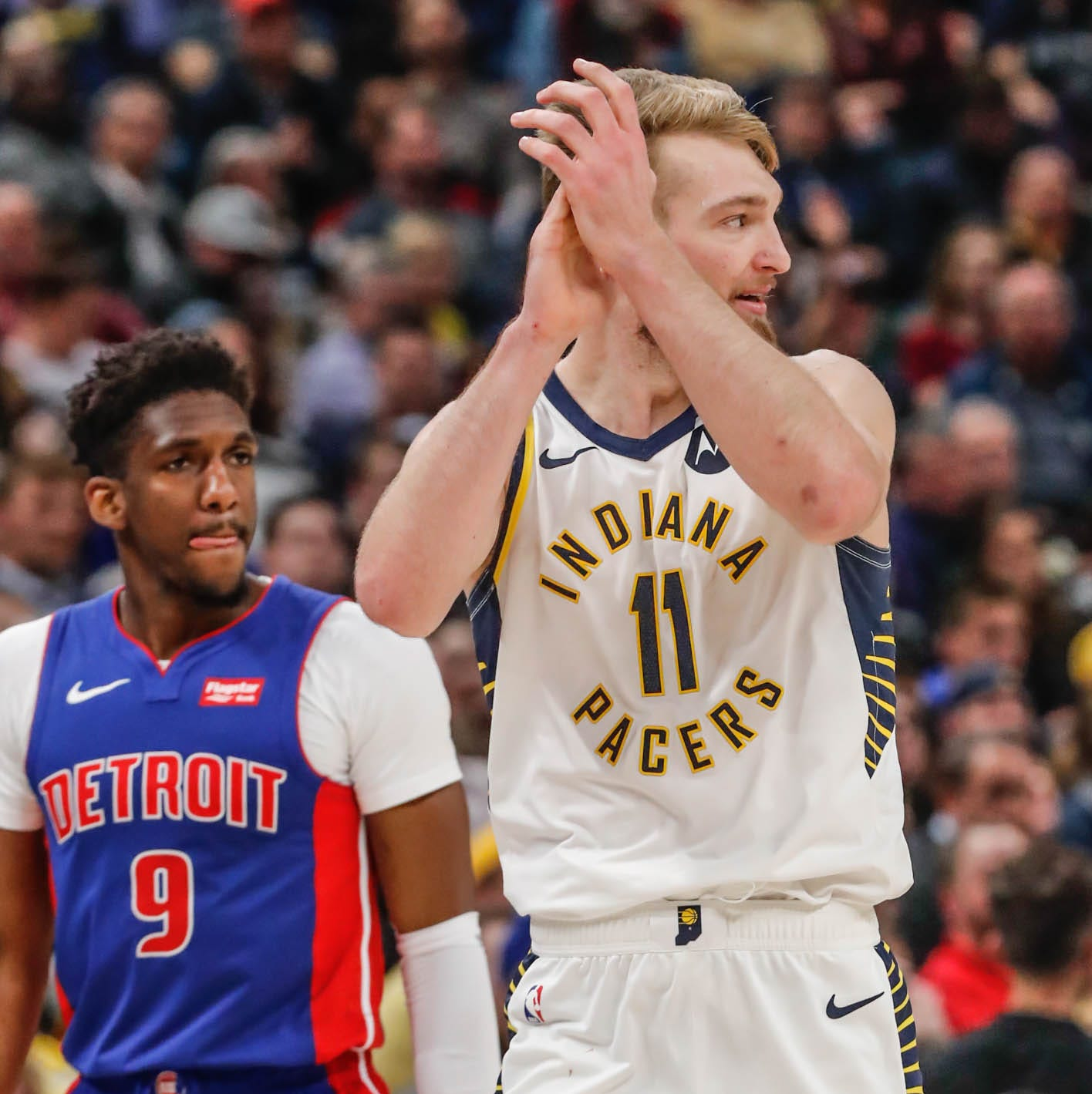 Pacers fight 'fire with fire,' bully physical Pistons inside to end 3-game skid