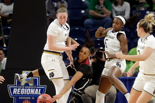 Princeton's Jackie Young leads Notre Dame past Stanford, 84-68