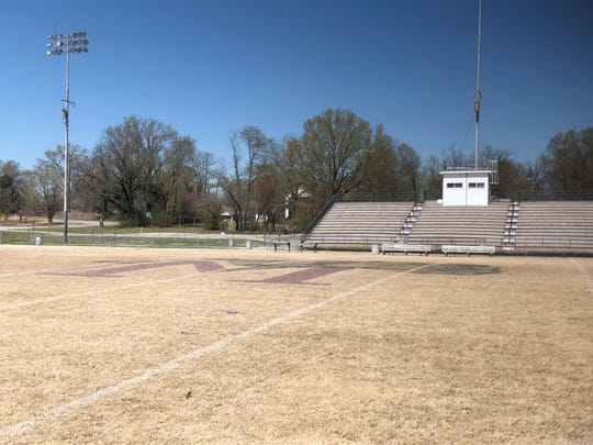 The current visitors' side of Johnnie Hale Stadium, seen in this photo, will become the home side for the 2020 season after renovations to the stadium are made once the 2019 season is complete