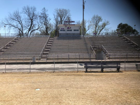 The home side of the stands and the Bill Haney Press Box will be replaced after the upcoming football season for Milan at Johnnie Hale Stadium.